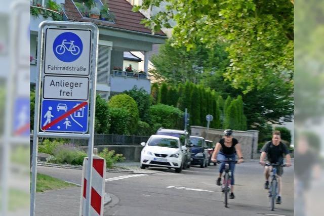Die erste Fahrradstraße