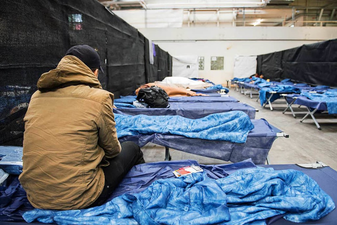 Die Notunterkunft ist für viele Flüchtlinge die erste Station in Deutschland    Foto: dpa