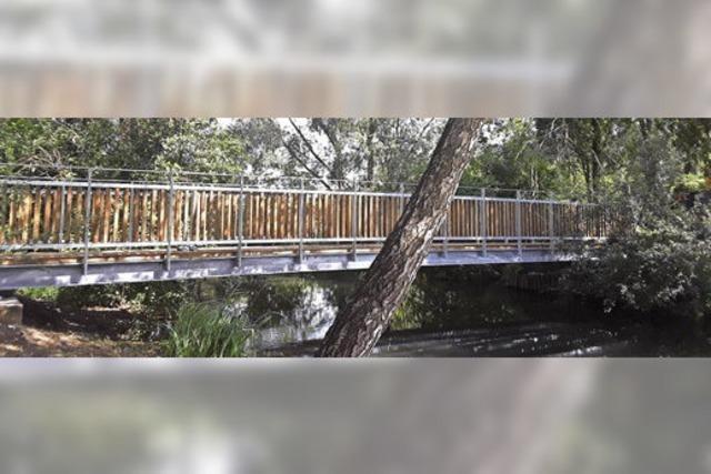 Neue Brücke über den Mühlbach