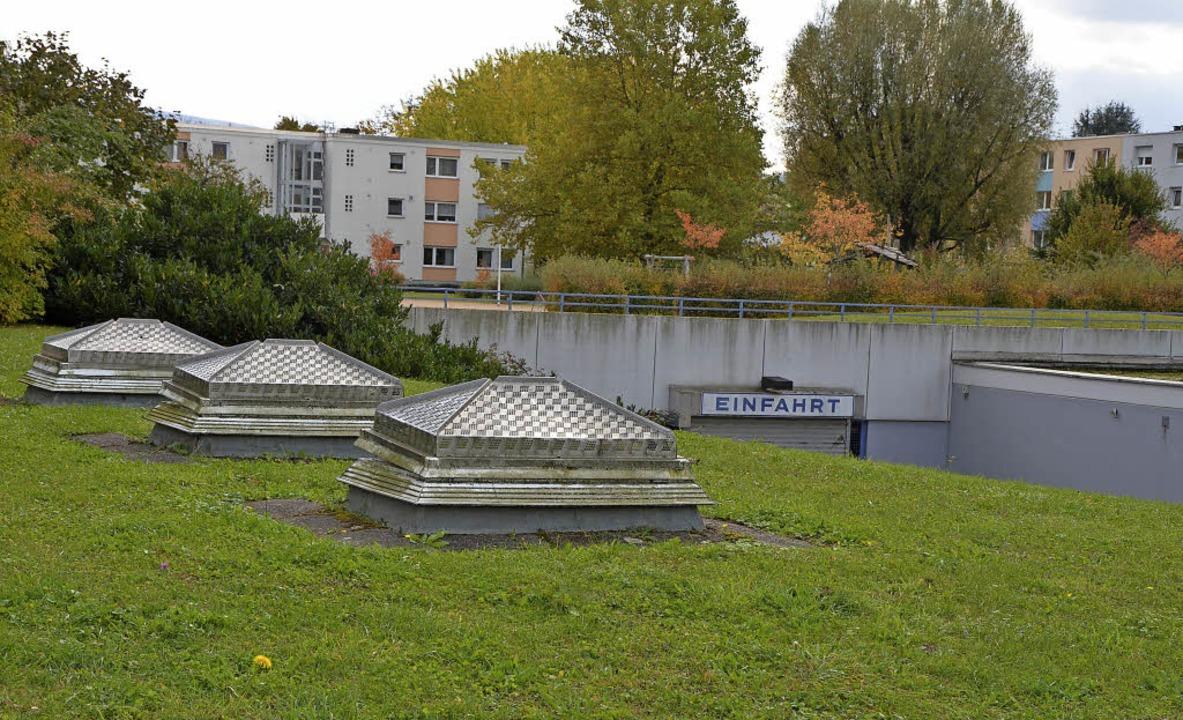 Die Tiefgarage Römerstraße bleibt, obe...mt aber eine zweistöckige Hochgarage.     Foto: Böhm-Jacob