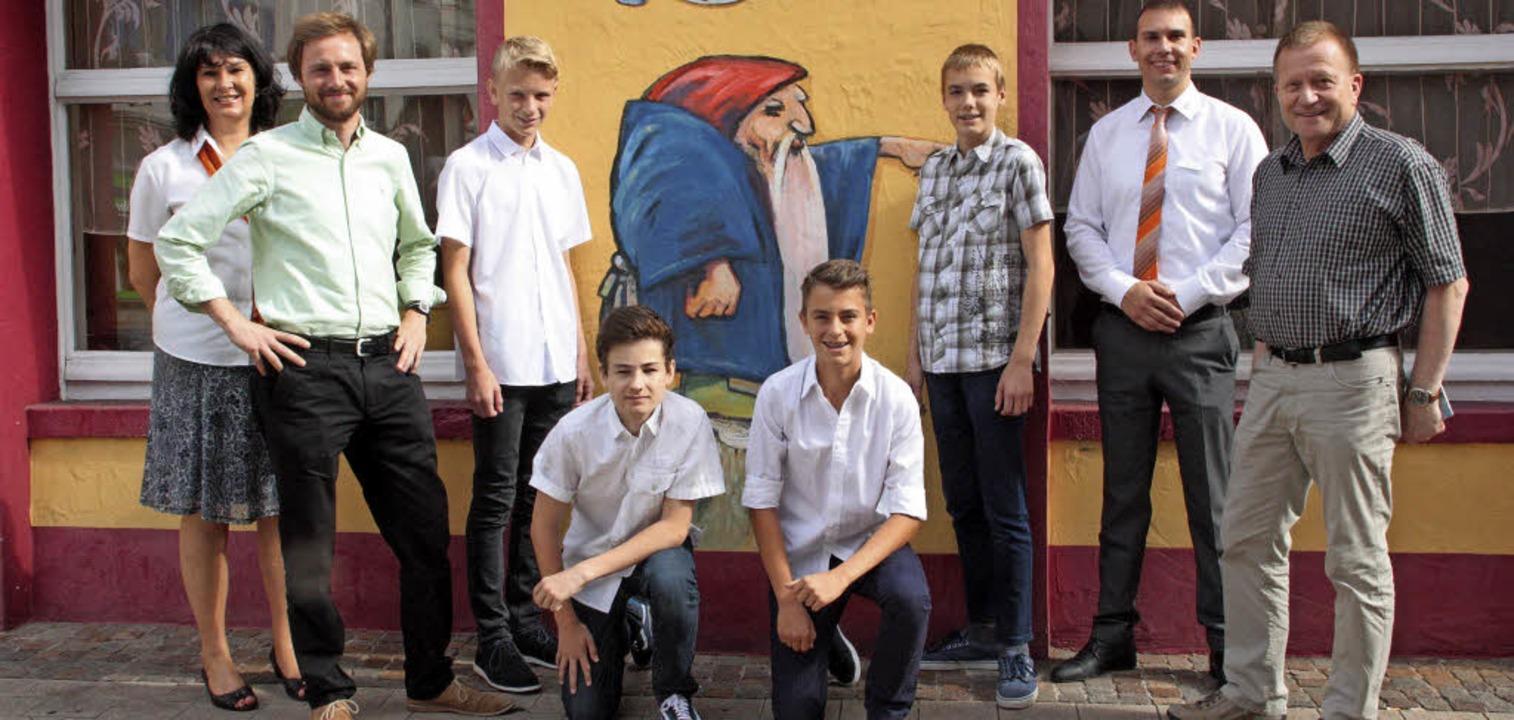 Andrea Daems, Benjamin Schiele, Jonas ...) sind Fans des Sagenhaften Freitags.     Foto: Jörn Kerckhoff