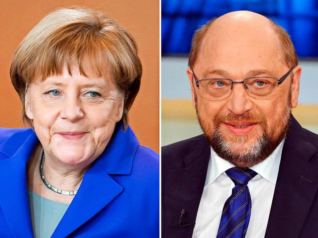 Angela Merkel und Martin Schulz kommen nach Freiburg