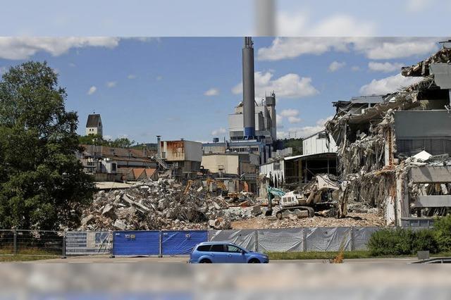 Abrissarbeiten an ehemaliger Papierfabrik dauern rund zwei Jahre
