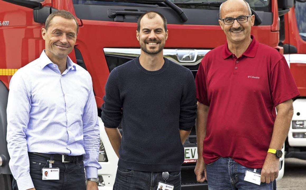 Partner (von links):  Kai Barthel,  Se...kommandant der Freiwilligen Feuerwehr   | Foto: Evonik