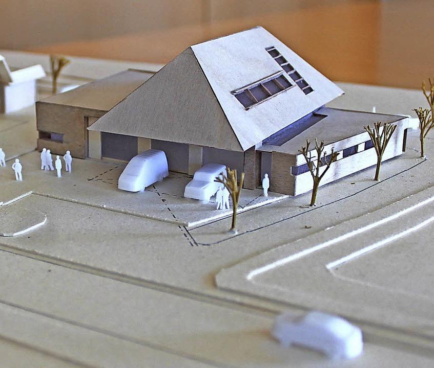 Erweiterungsbau im Modell     Foto: Krieger