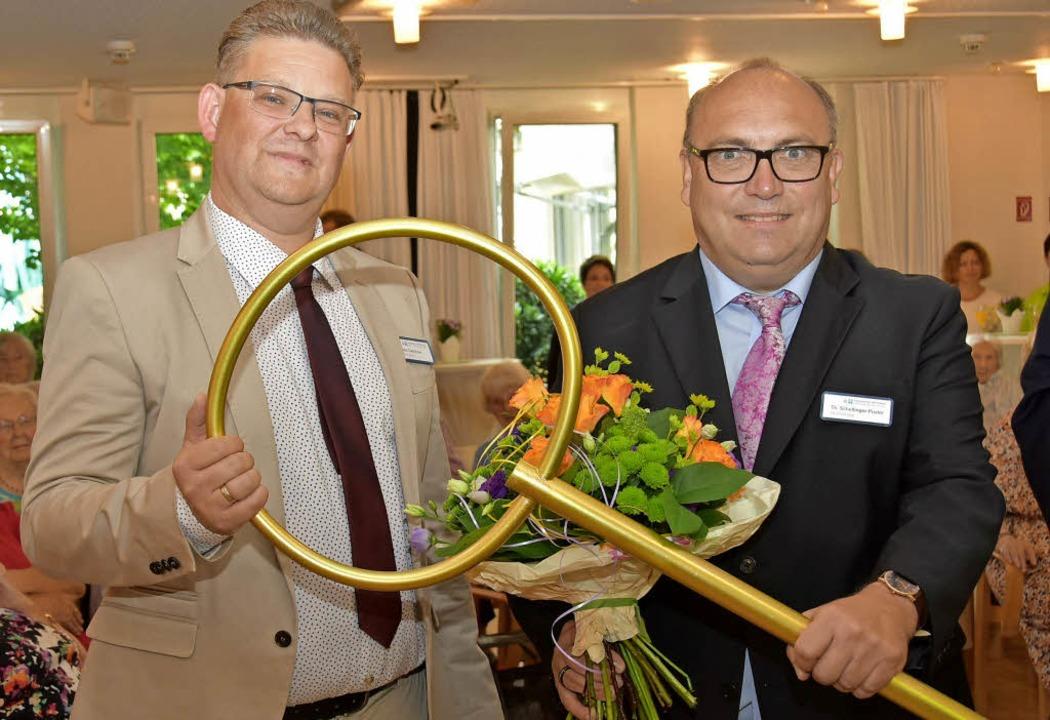 Mit einem Festakt ist Torsten Dalichow...er begrüßt: Thomas Schellinger-Pusler   | Foto: Andrea Steinhart