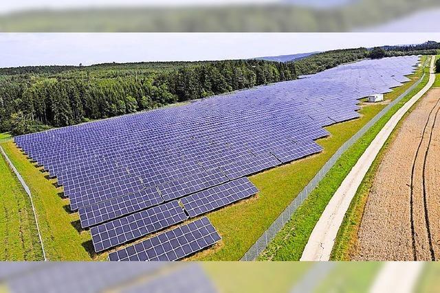 Keine Einwände gegen den Solarpark