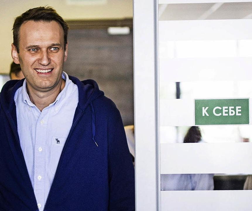 Den Arrest abgesessen: Alexej Nawalny  | Foto: dpa
