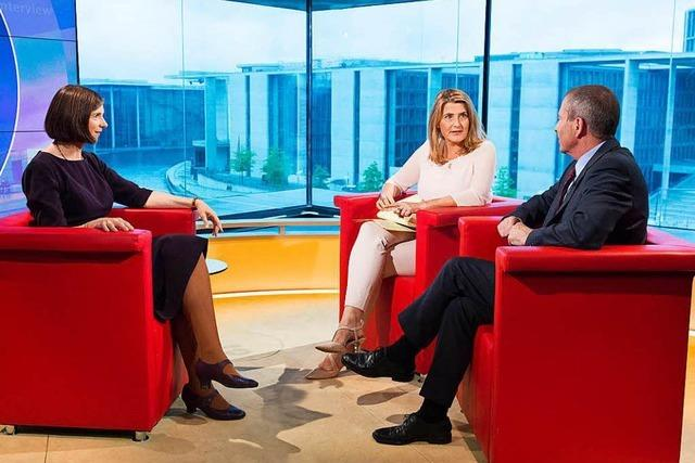Tina Hassel über ihre Gespräche mit Spitzenpolitikern