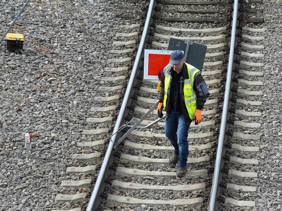 Auf der Rheintaltrasse geht es der Bahn zu langsam voran.  | Foto: Hannes Lauber
