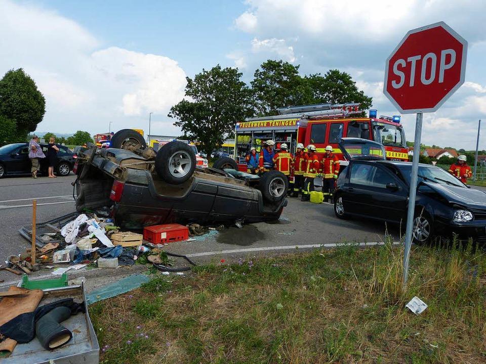 Schwerer Unfall in Nimburg  | Foto: Aribert Rüssel