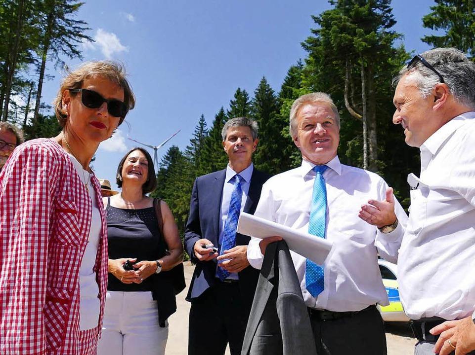 Hoher Besuch zur Eröffnung des höchste...agsabgeordnete Josha Frey (von links)   | Foto: André Hönig