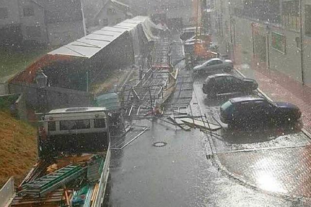 Unwetter hinterlässt Schäden in Friesenheim