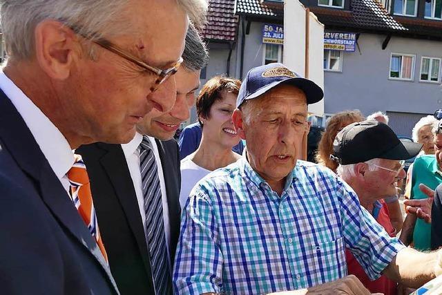 Armin Schuster auf Verkehrstour im Wahlkreis Lörrach-Müllheim