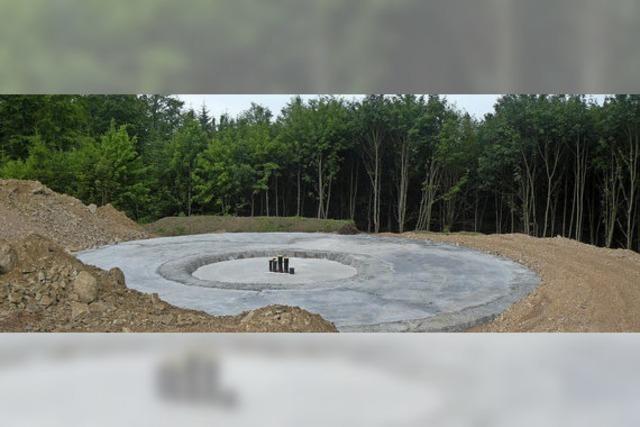 Windrad-Fundament ist betoniert