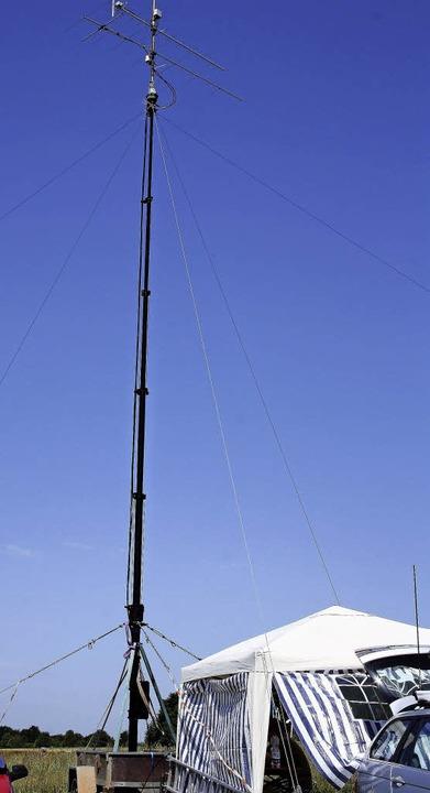 Mit riesigen Funkmasten gelang den Hob...weit  über die Grenzen Europas hinaus.  | Foto: Andreas Böhm