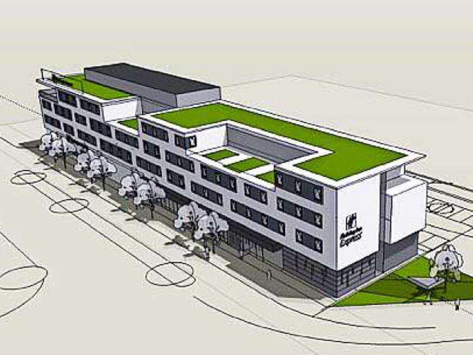 Einer der Entwürfe für das neue Hotel   | Foto: Skizze: Freiraum4plus/Stadt OG
