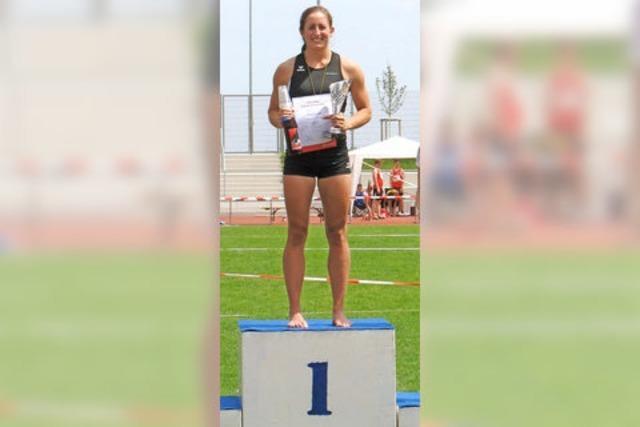 Anna-Lena Gamp sichert sich den U23-Landesmeistertitel im Siebenkampf