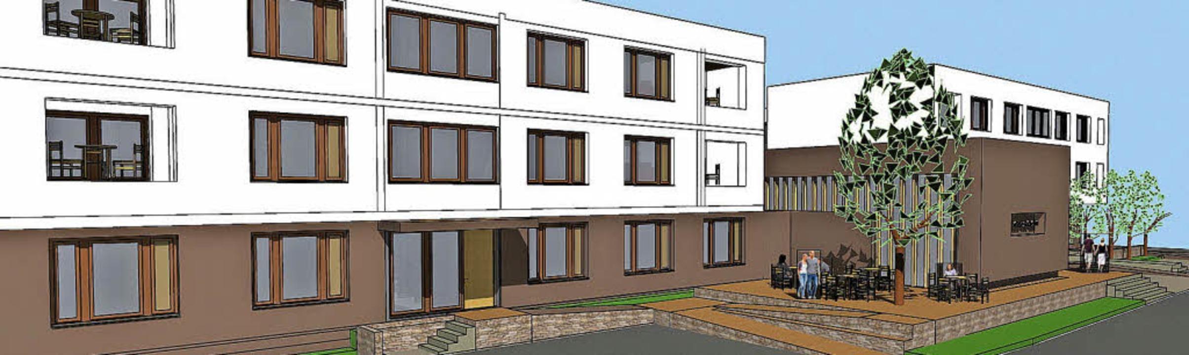 So soll das Roteux-Quartier in Vörstetten aussehen.   | Foto: Illustration: Archimedes Architekten GmbH