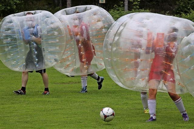 Jubiläumsfest mit Bubble Soccer