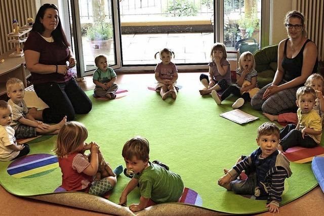 Platz für Kleinkinder bis unters Dach