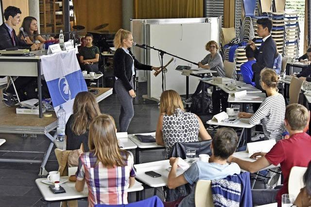 """Die Deutsch-Französischen Gymnasiasten hatten drei Tage lang das Sagen – in ihrer """"Dreisamrepublik"""""""