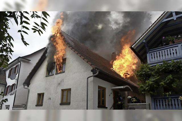 Feuer in der Krafftgasse