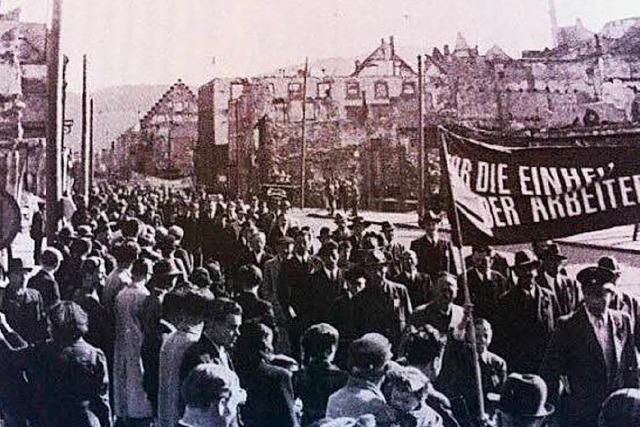 Badischer Gewerkschaftsbund vor 70 Jahren in Freiburg gegründet