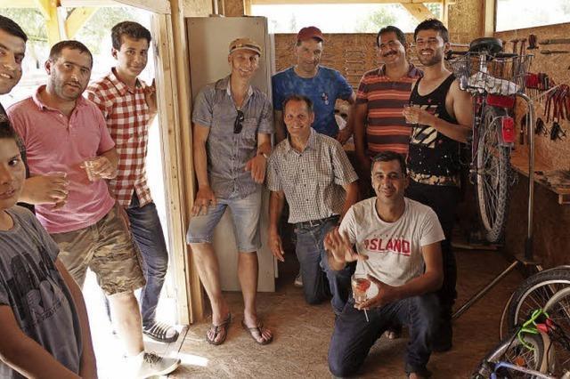 Radwerkstatt an der Flüchtlingsunterkunft