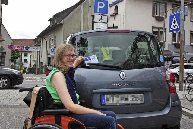 Parkplatz nur für Behinderte
