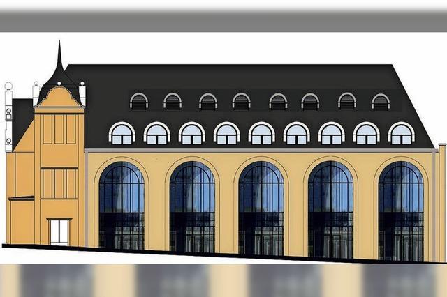 Der Gestaltungsbeirat lehnt Gauben im Dach der Stadthalle ab