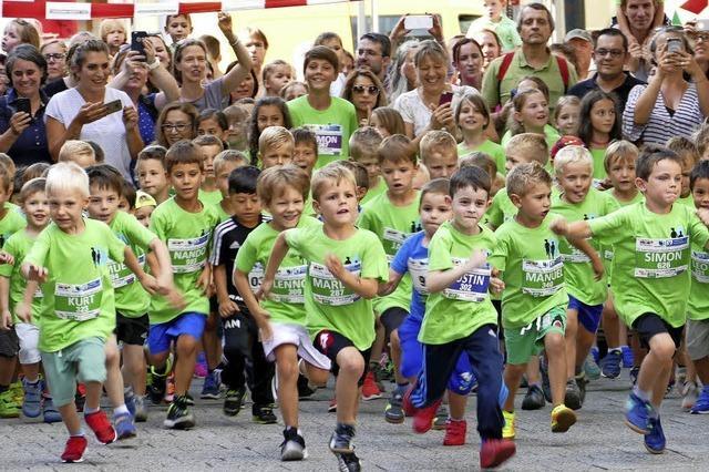 Großer Applaus für die Läufer