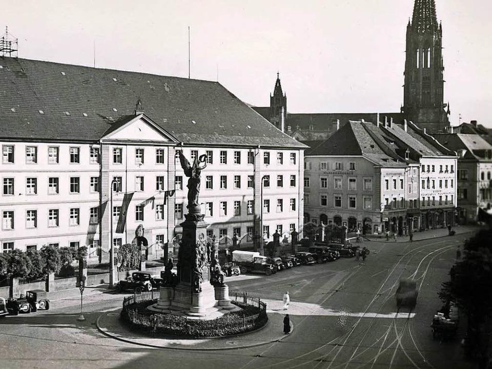 Ansicht von 1935 des Fotografen Rolf K... dem Denkmal im ursprünglichen Zustand  | Foto: Archiv Manfred Gallo