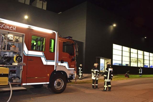 Maschine gerät in Brand