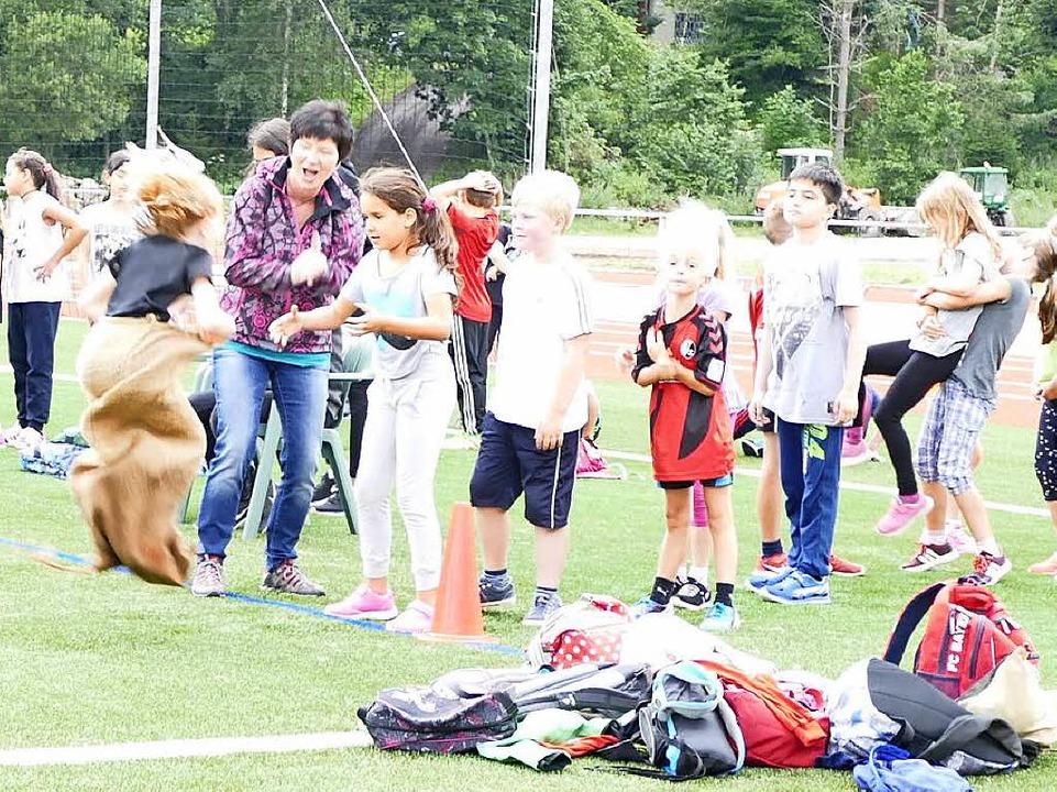 "Einen ""Bunten Sporttag"" ha...e ganze Schulgemeinschaft vorbereitet.  | Foto: Sebastian Barthmes"