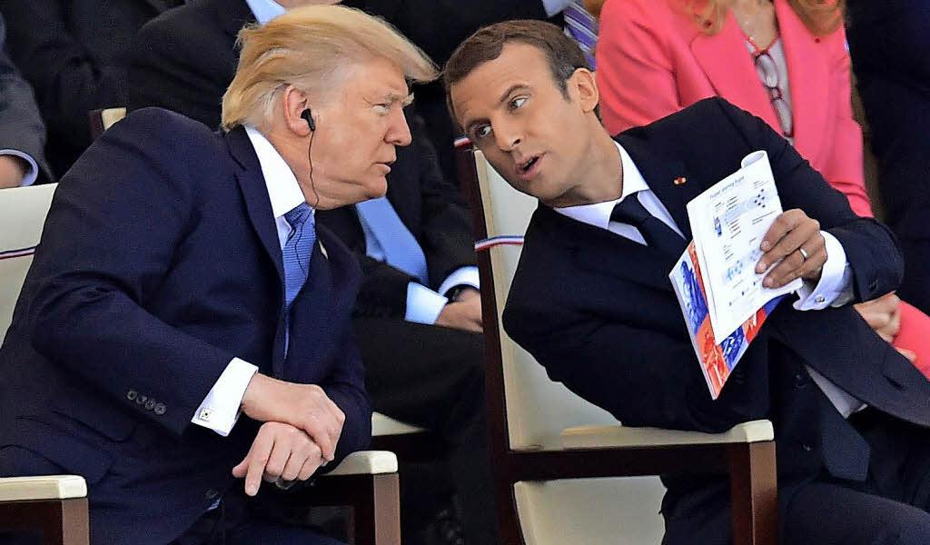 Macron und Trump nehmen Beratungen in Paris auf