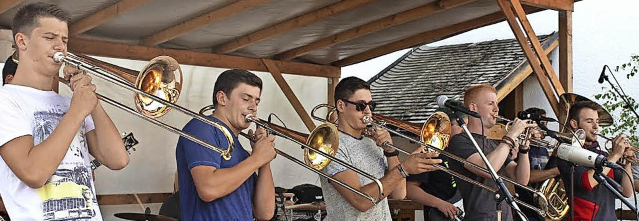Brasstastisch, die Gewinner des  Kappl...tarren und schnelle Rhythmen treffen.   | Foto: Dennis Wipf