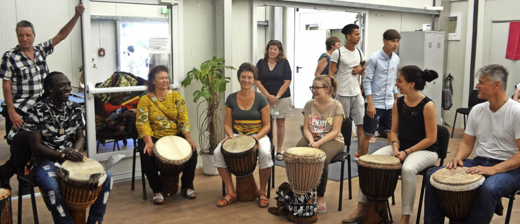 Begegnungsfest in der Steinener Gemein...ister Gunther Braun voll im Rhythmus.   | Foto: Gudrun Gehr