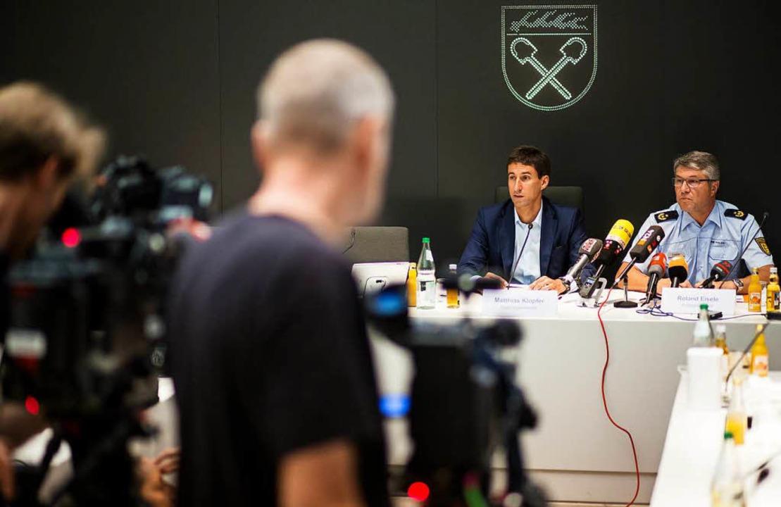 Pressekonferenz zu den Vorfällen in Schorndorf    Foto: dpa