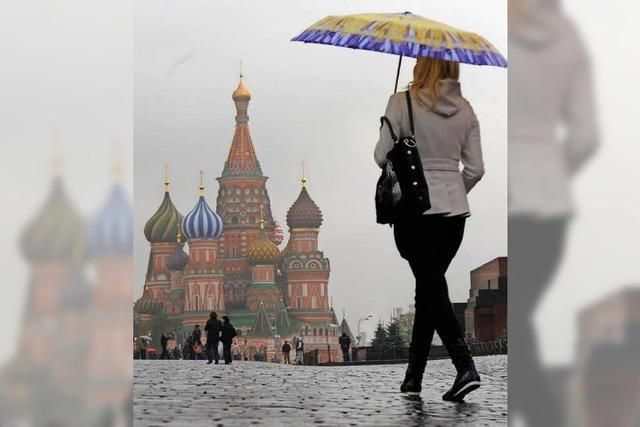 Der Sommer in Moskau ist nass wie lange nicht mehr