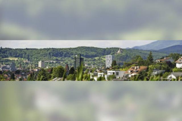 Lörrach ist mit 50.000 Einwohnern überschaubar - dafür hat sie eine respektable Skyline