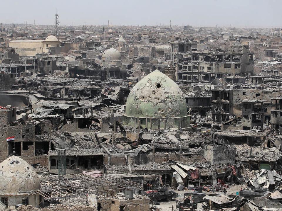 Die zerstörte Altstadt von Mossul am 7. Juli 2017   | Foto: DPA/REHMANN