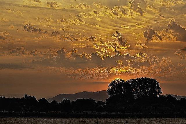 Sonnenaufgang bei Schuttern