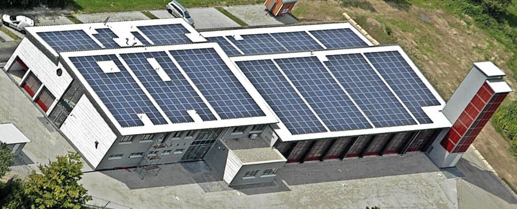 Fotovoltaikanlagen der Denzlinger Ener...im Unterdorf an der Vörstetter Straße   | Foto: Archivfoto:Sasse