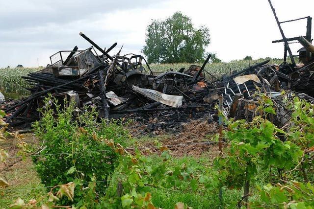 Verdacht auf Brandstiftung in Bohlsbach: Schuppen und Traktoren ein Raub der Flammen
