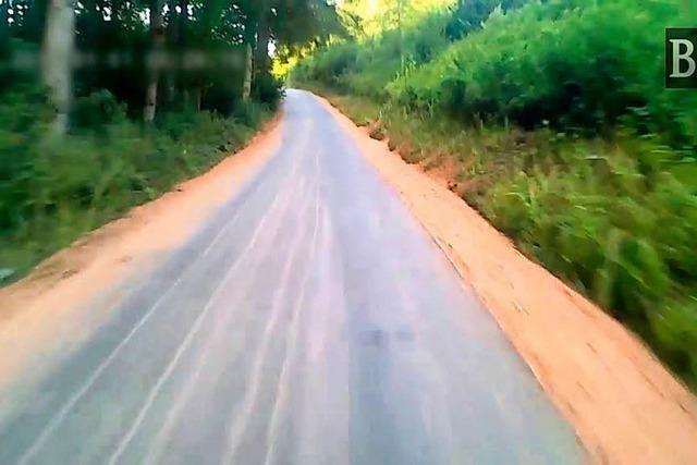 Der neue Radweg nach Hasel im Zeitraffer