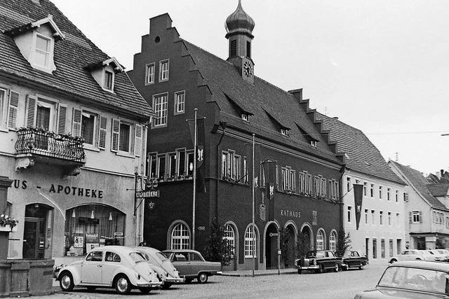 Rathausweihe vor 50 Jahren