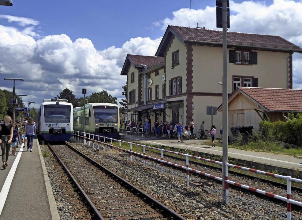 Große Umbauten stehen am Bahnhof Gottenheim an: Er erhält eine Unterführung.  | Foto: Manfred Frietsch