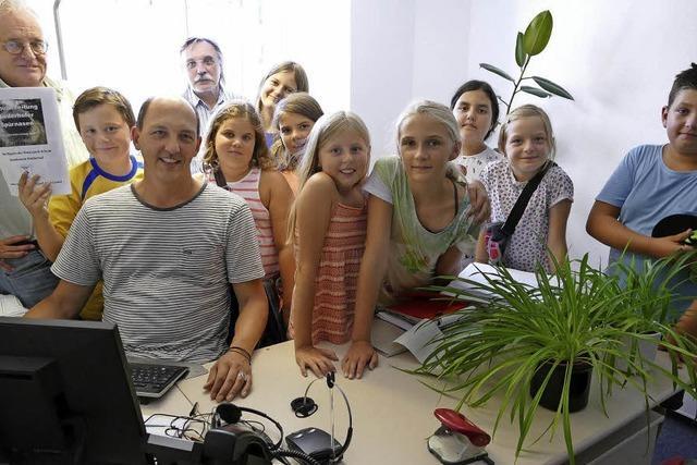 Niederhofer Nachwuchsjournalisten bei derBZ