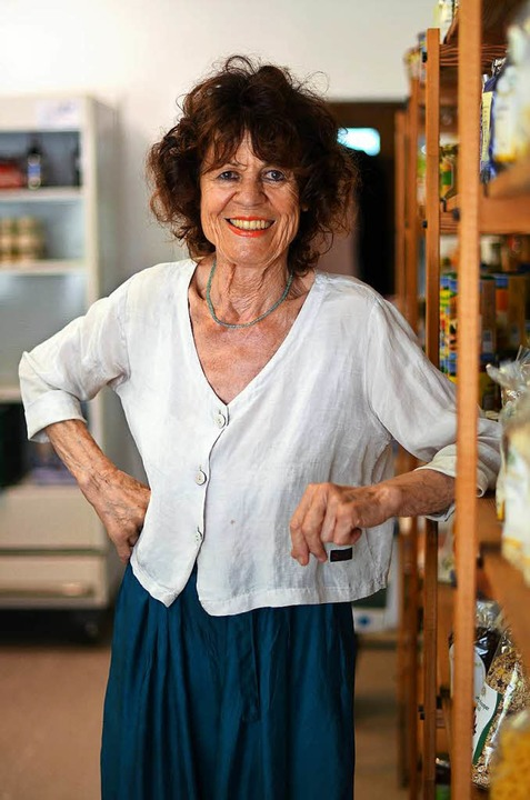 Renate Faist betreibt den Dorfladen in Wittnau    Foto: Kathrin Blum